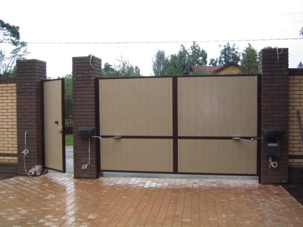 Установка ворот, цена монтажа в Минске