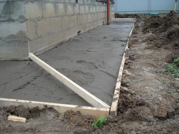 Строительство отмостки вокруг дома в Минске