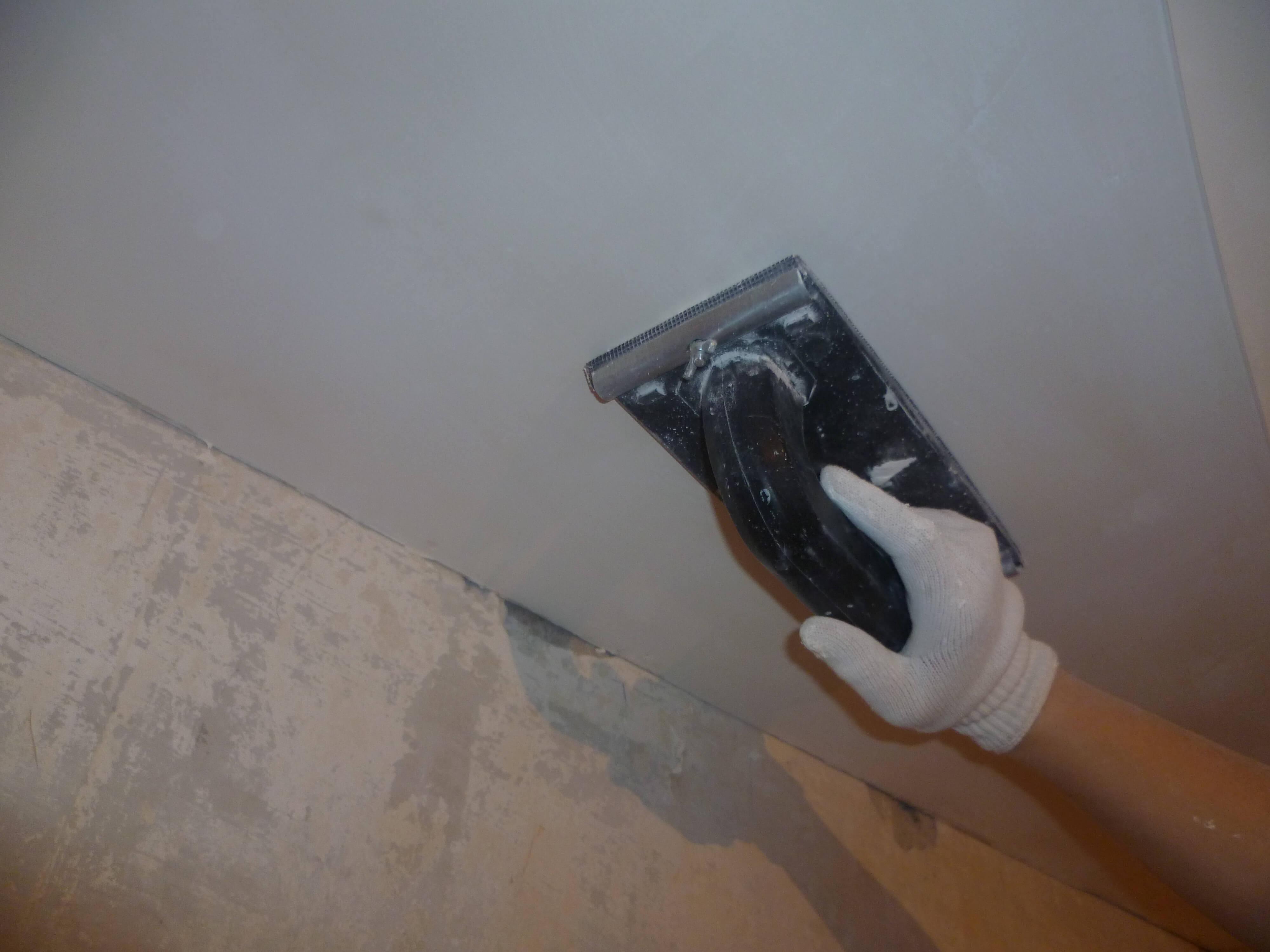 Стоимость шпаклёвки потолка под покраску в Минске