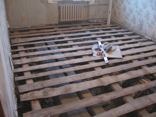 Стоимость демонтажа деревянных полов с лагами в Минске