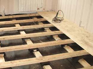 Стоимость укладки деревянных лаг в Минске