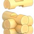 Рубка срубов «в охряп» цена