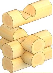 Рубка срубов «в чашу» цена в Витебске