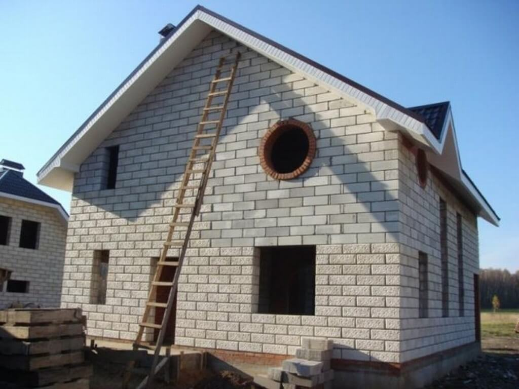 Фото домов своими руками из пеноблоков