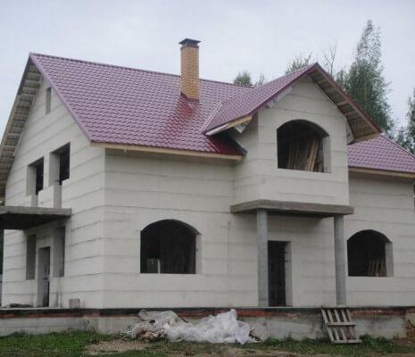 Дом из газосиликатных блоков строительство в Витебске и Минске