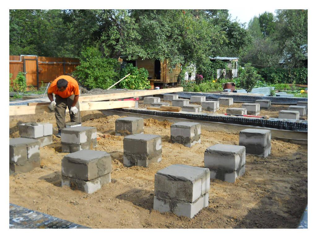 Построить столбчатый фундамент в Минске.