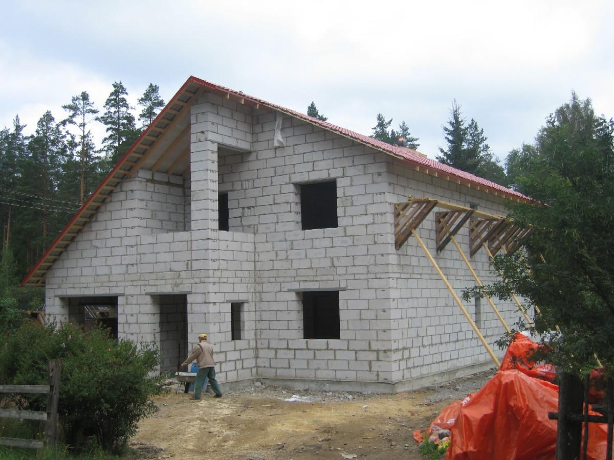 Строительство дома газобетона своими руками