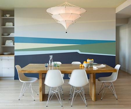 Покраска стен в несколько цветов цена