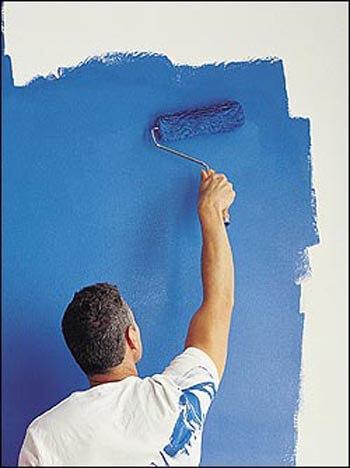 Покраска стен за 1 слой цена