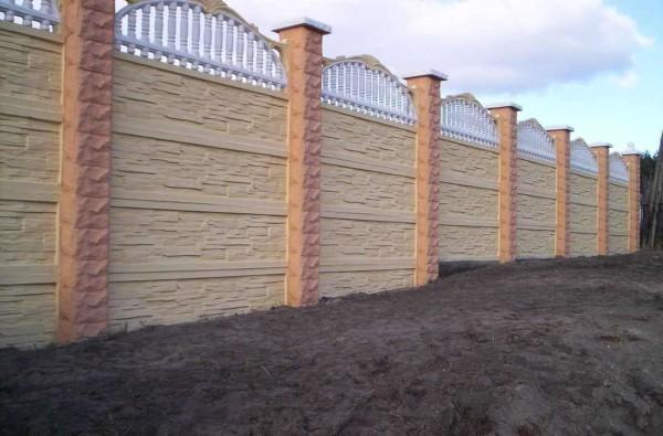 Цена строительства бетонного забора в Минске