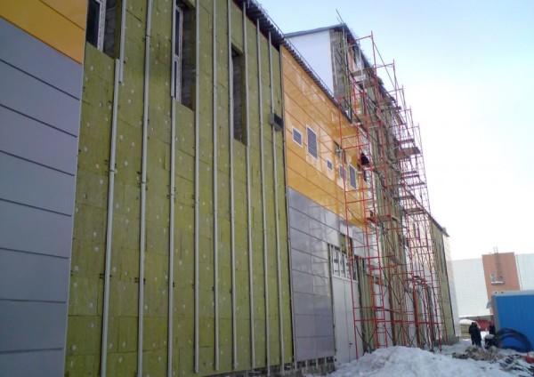 Отеделка фасада из металлокассетами, цена в Минске