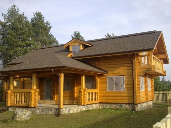 Коттеджи построенные из лафета в Минске