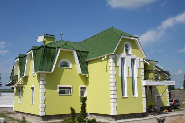 Декоративная покраска фасада, стоимость в Минске