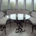 Кованная мебель цена работ