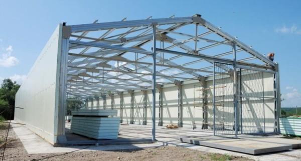 Строительство каркасных производственных цехов, цена в Минске