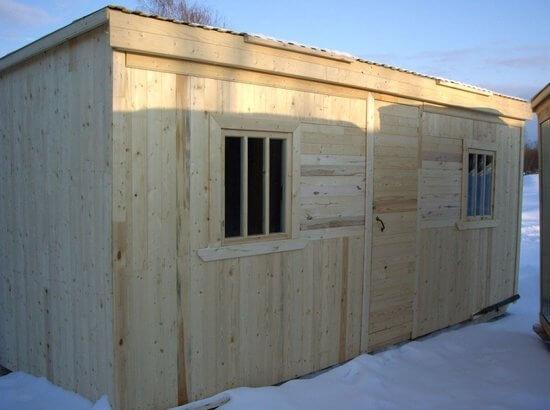 Заказать построить деревянную бытовку в Минске