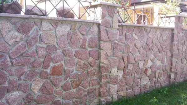 Цена строительства каменного забора в Минске