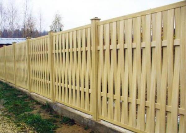 Деревянные заборы, цена строительства в Минске