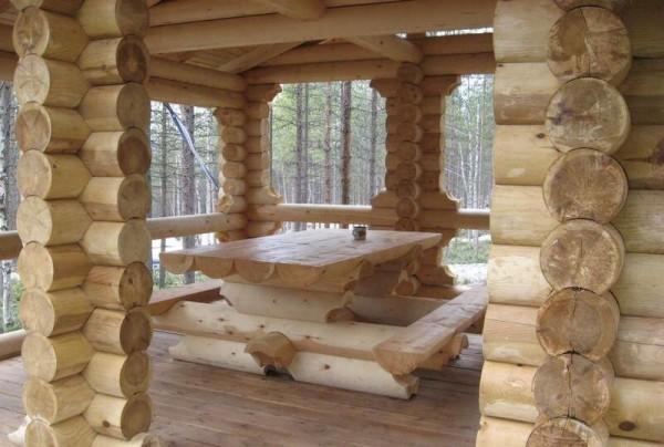 Заказать построить беседку из оцилиндрованного бревна в Минске