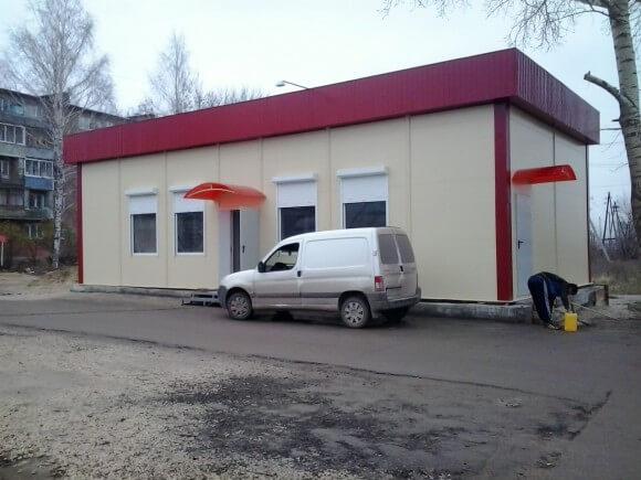 Изготовление магазинов из сэндвич-панелей в Минске