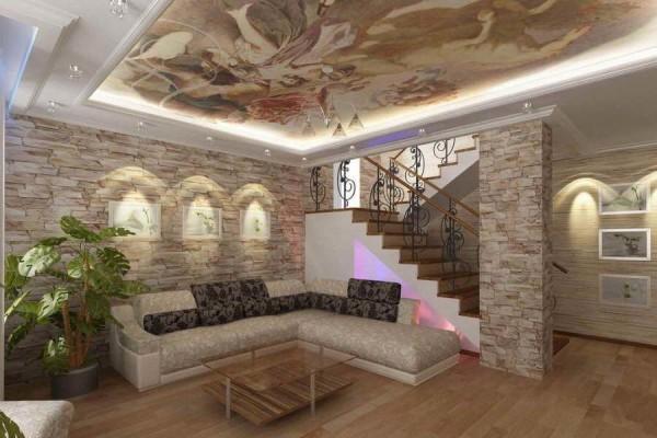 Цена дизайна интерьера коттеджа в Минске