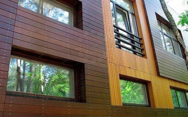 Вентилируемые фасады из планкена цена отделки