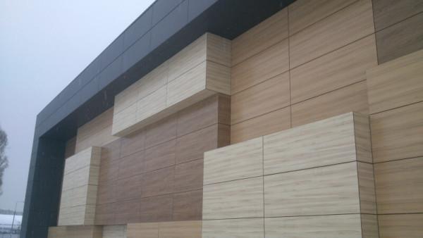Монтаж фасада из hpl-панелей, цена в Минске