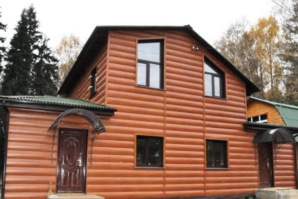 Отделка дома блок-хаусом, цена в Минске