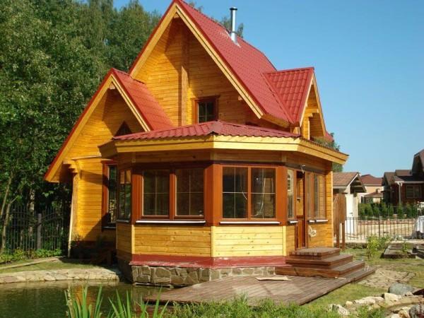 Бани из клееного бруса, цена строительства в Минске