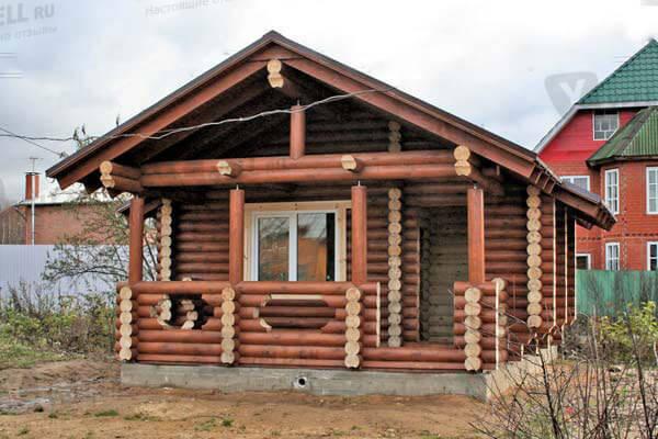 Заказать построить баню из оцилиндрованного бревна в Минске