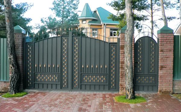 Кованые ворота, цена в Минске