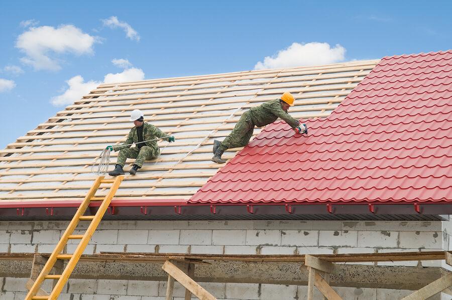 Фото строительство крыши