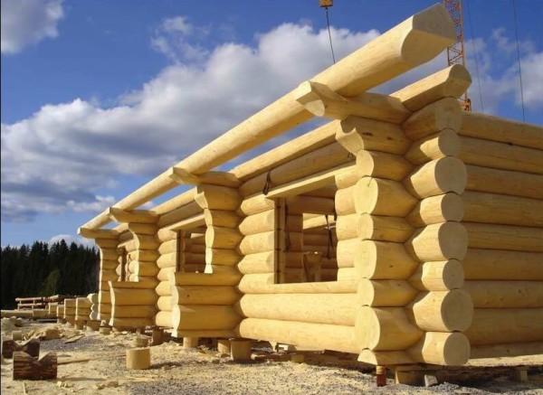 Построить коттедж из кругляка, цена работ в Минске