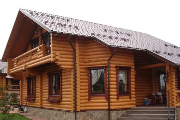Заказать финский дом из оцилиндрованного бревна в Минске
