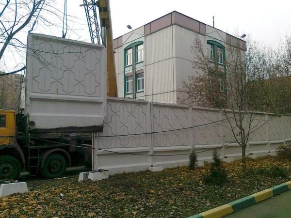 Изготовление и монтаж бетонного забора в Минске