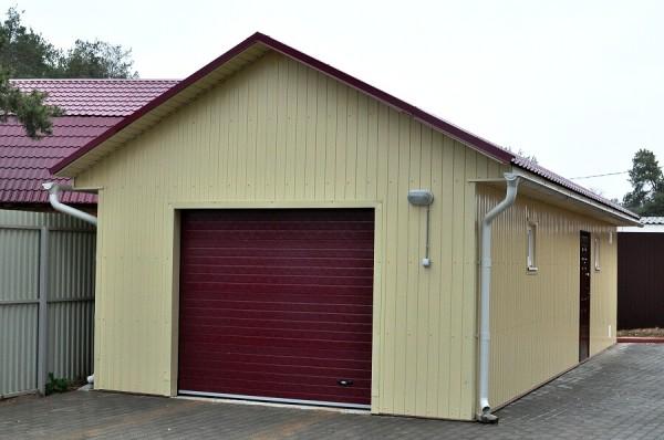 Строительство гаража из профнастила, цена в Минске