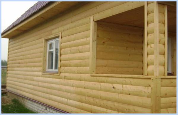 Отделка фасада зданий блок-хаусом, стоимость в Минске