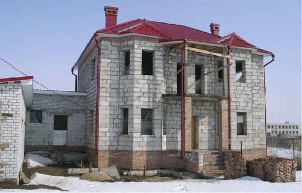 Цена строительства коттеджа из пеноблоков в Минске