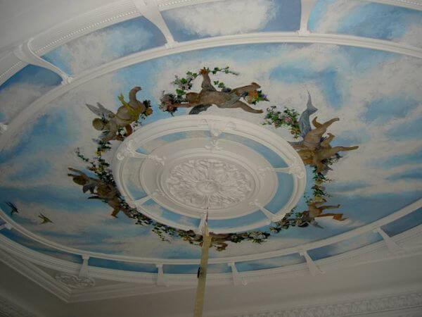 Стоимость художественной росписи потолков в Минске