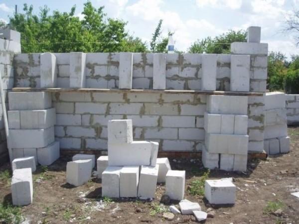 Заказать кладку пеноблоков, цена работ в Минске