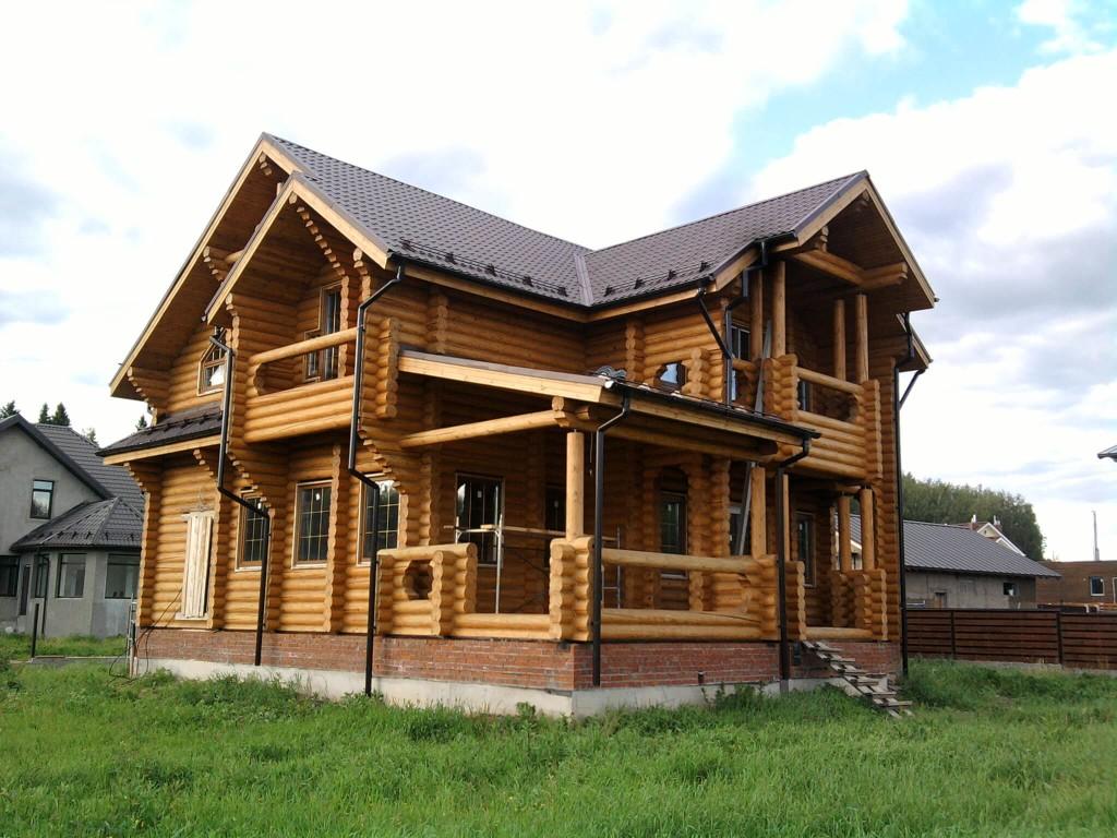 Проект дома из оцилиндрованного бревна в Минске