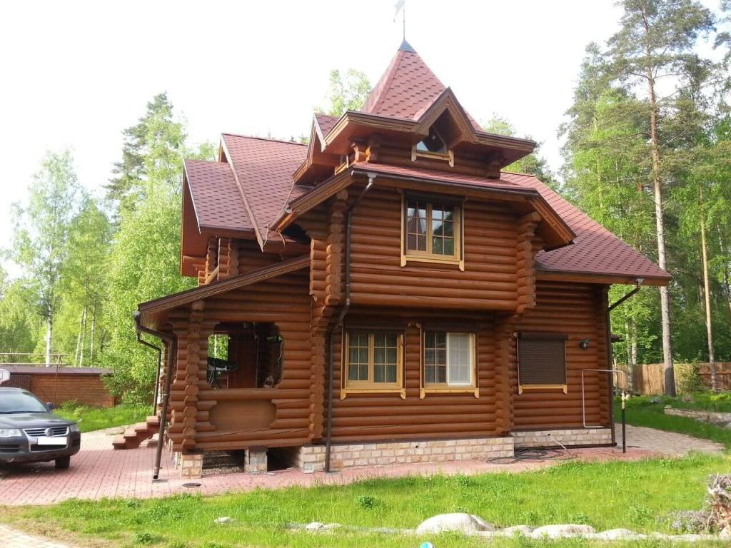 Разработка проекта дома из оцилиндрованного бревна в Минске