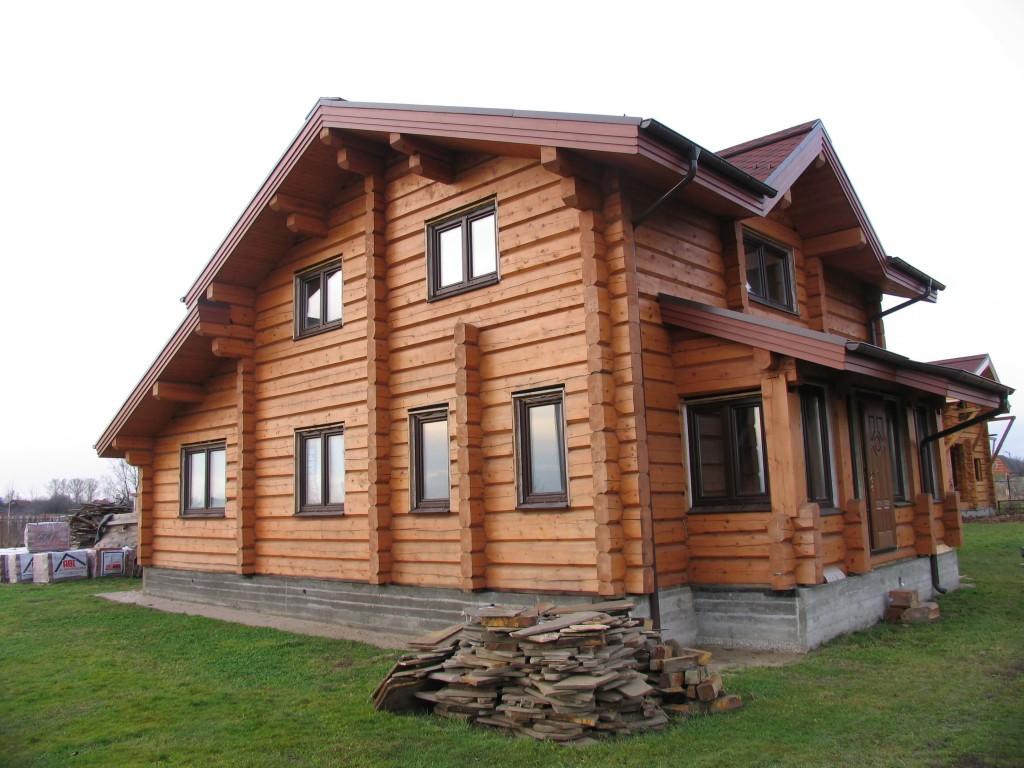 Разработанный проект дома из лафета в Минске