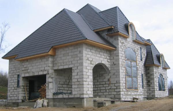 Проектный план дома из пеноблока в Минске