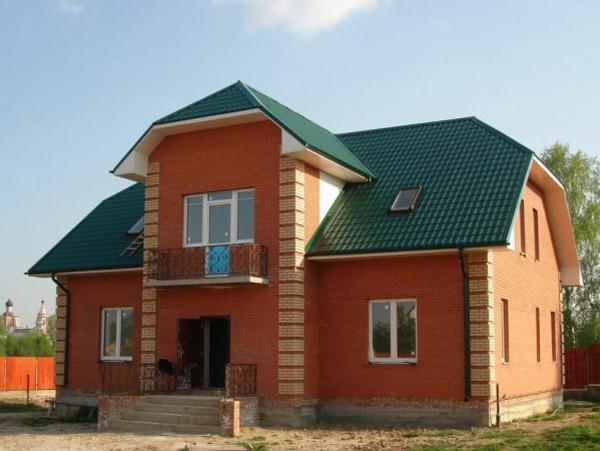 Проектный план кирпичного дома в Минске