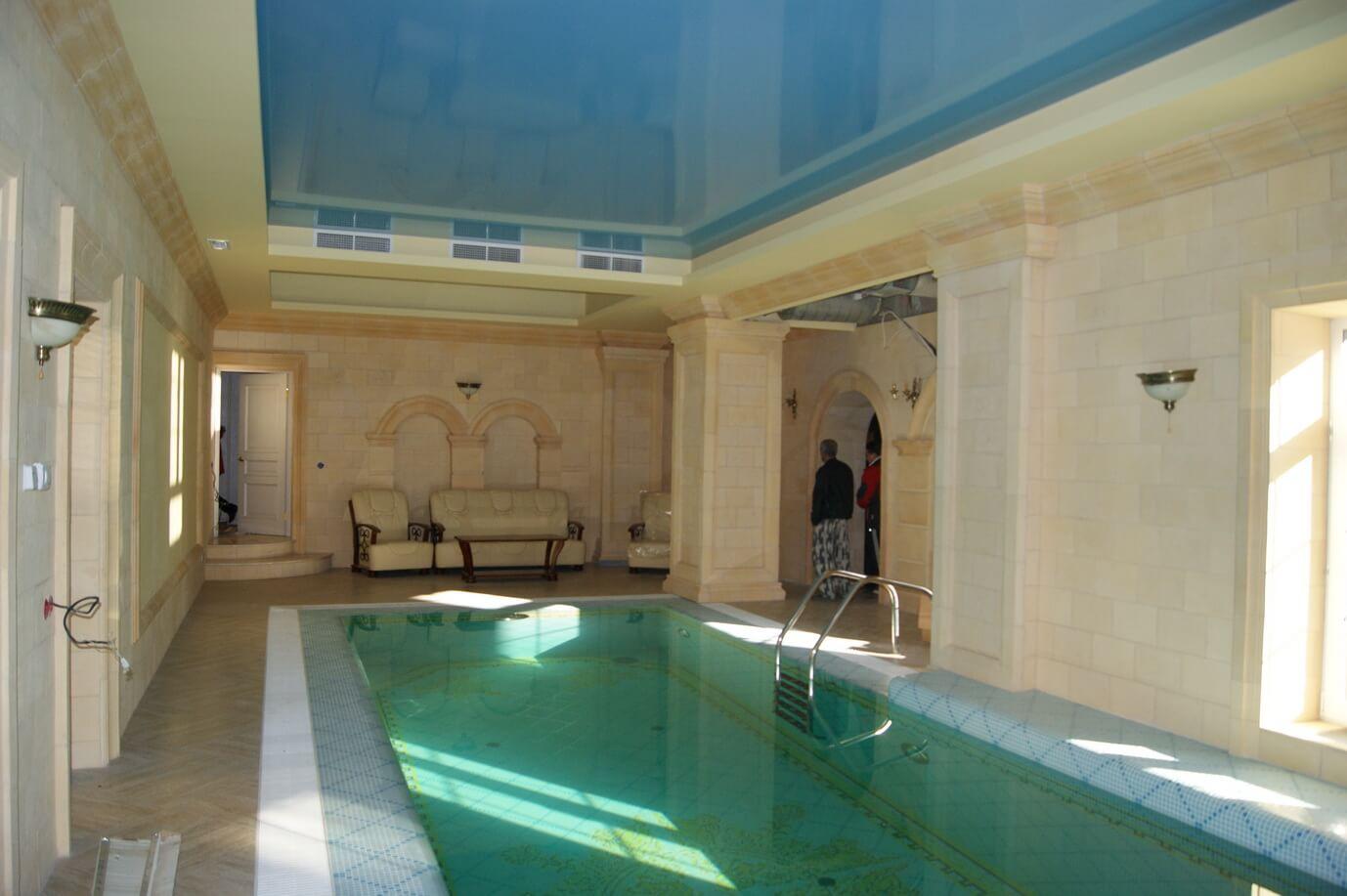 Внутренняя отделка бассейна, цена работ в Минске