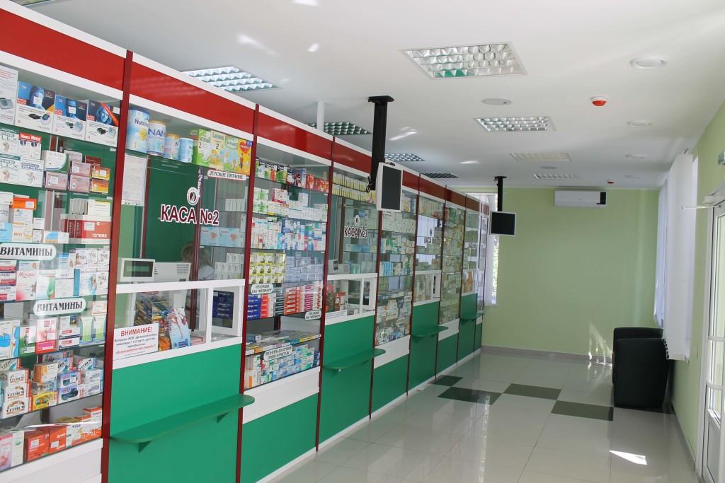 Внутренняя отделка аптеки в Минске