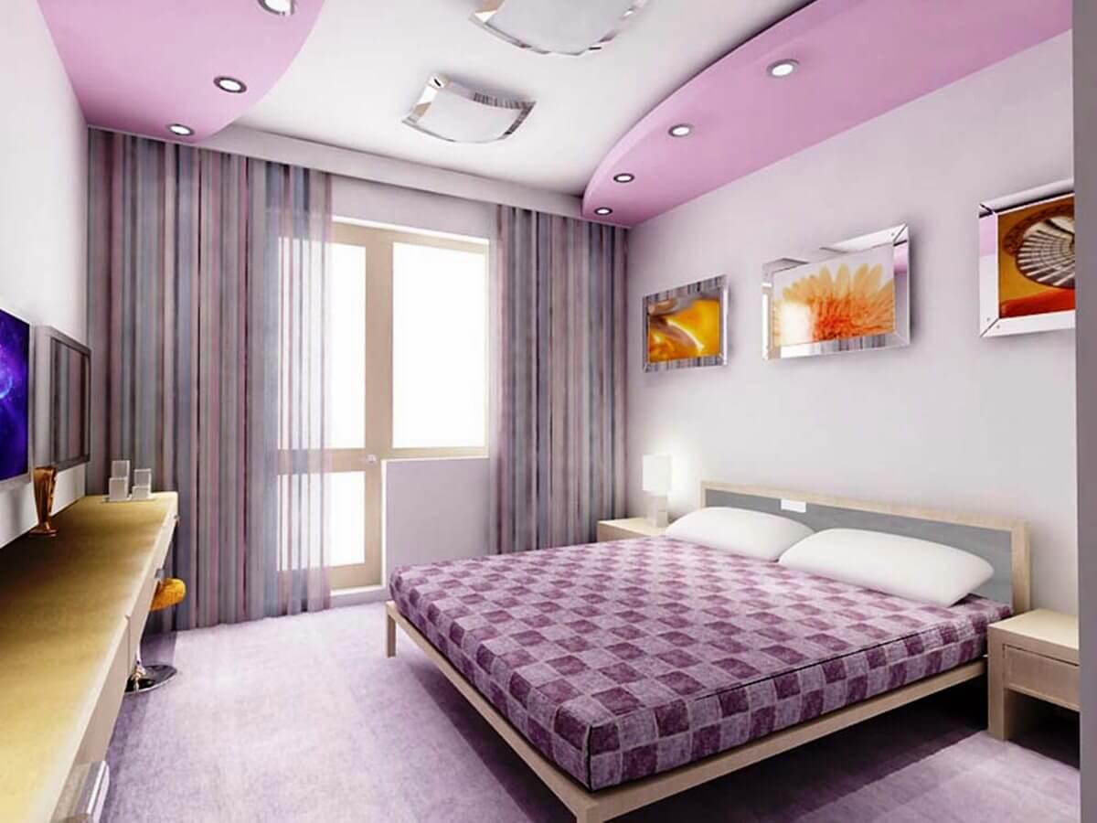 Натяжной потолок в спальне дизайн 12 кв м