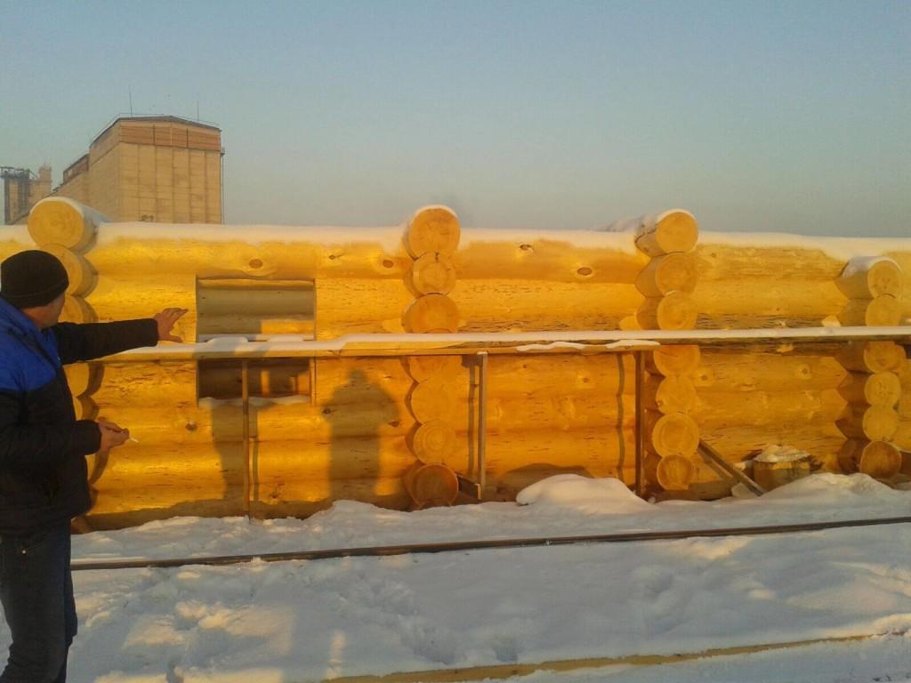 Сруб дома из кедра, цена изготовления в Минске