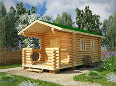 Готовая баня 7м с крыльцом купить в Минске